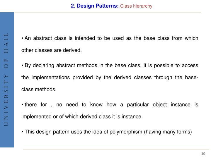 2. Design Patterns: