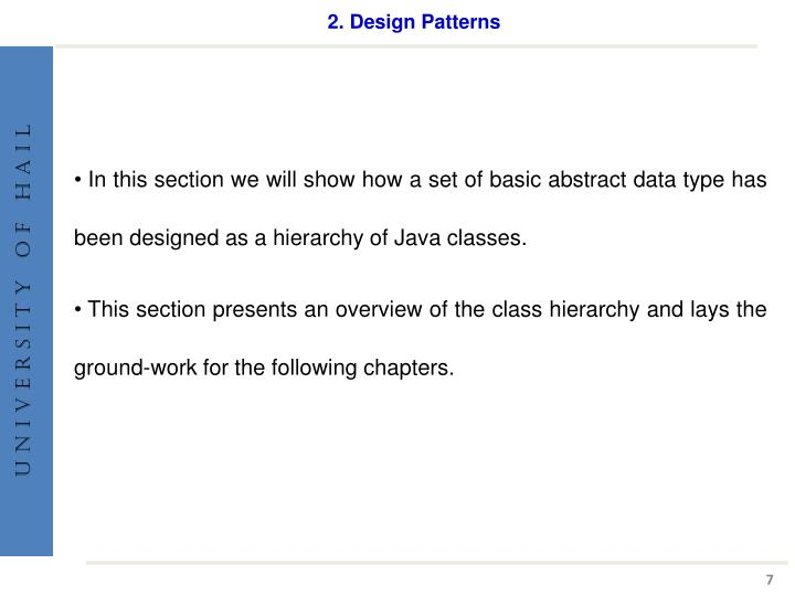 2. Design Patterns
