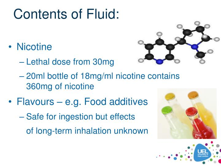 Contents of Fluid: