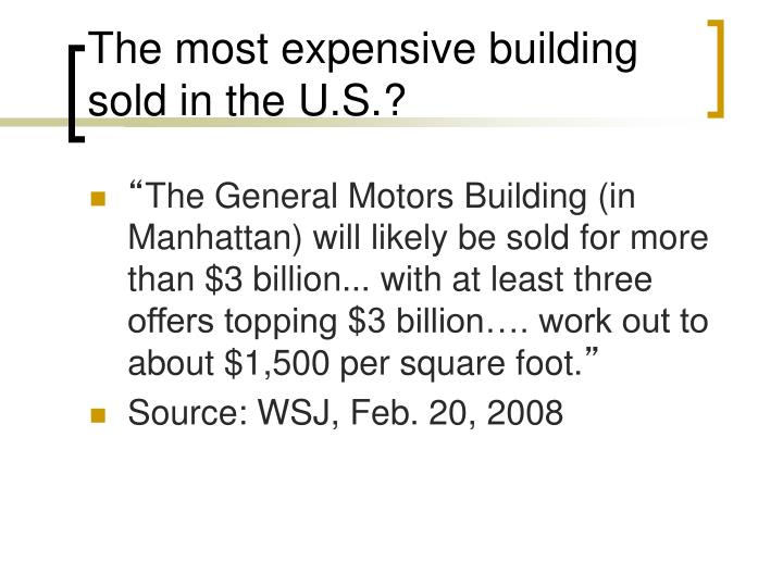 The most expensive building sold in the U.S.?