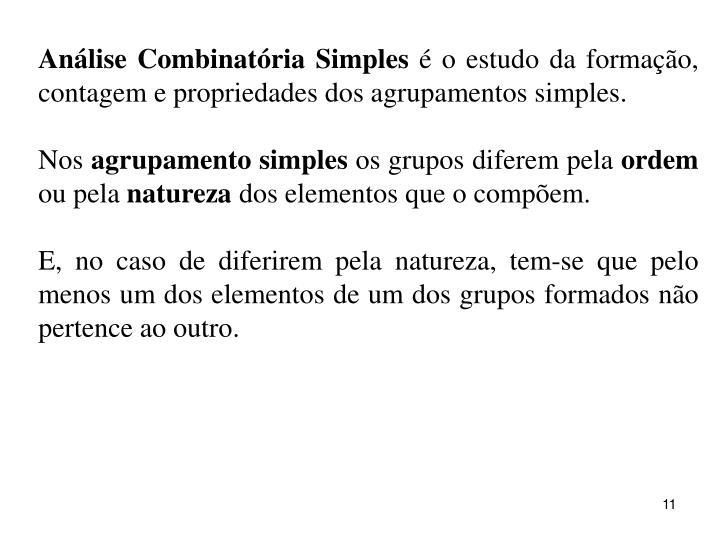 Análise Combinatória Simples