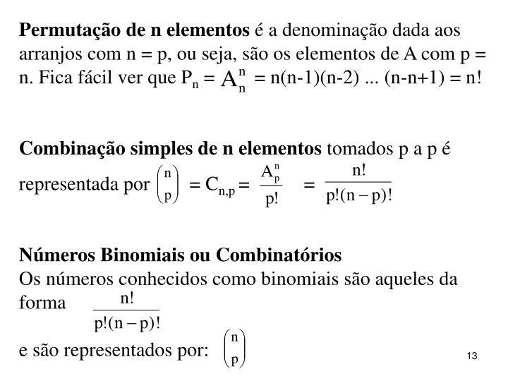 Permutação de n elementos