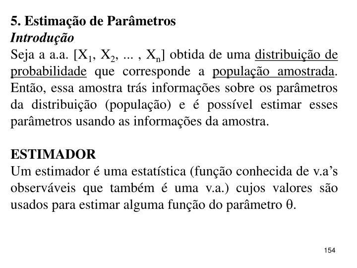 5. Estimação de Parâmetros