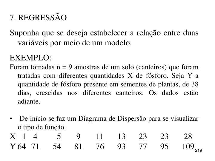 7. REGRESSÃO