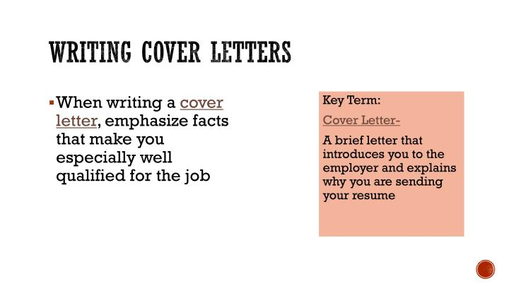 Writing cover letters