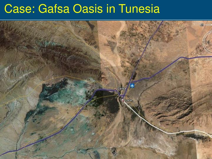 Case: Gafsa Oasis in Tunesia