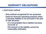 warranty obligations1