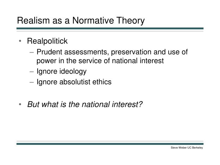 Realism as a Normative Theory