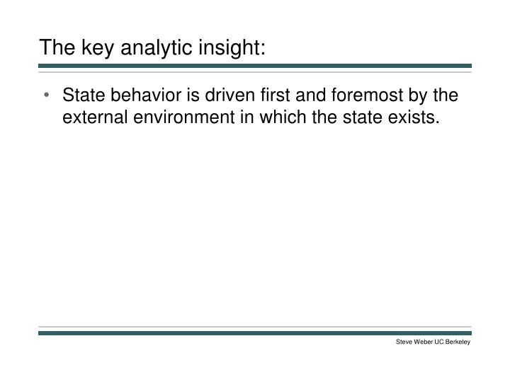 The key analytic insight: