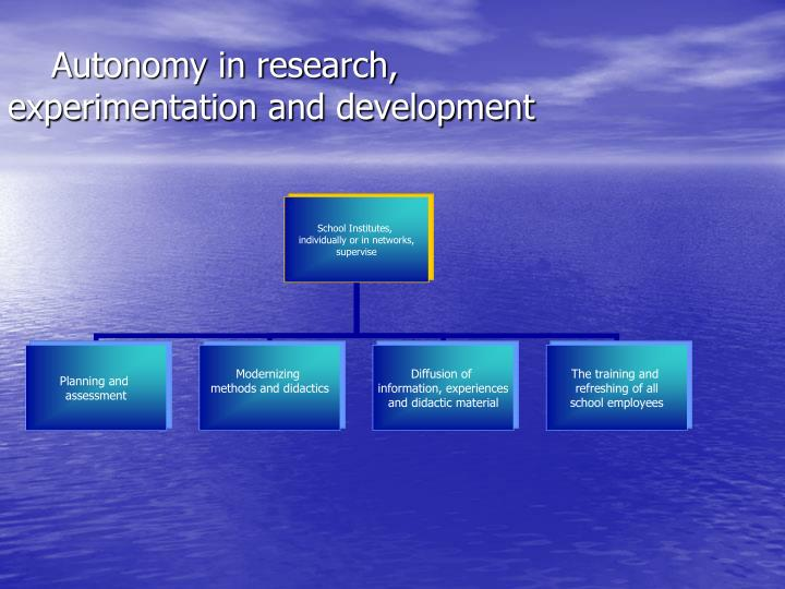 Autonomy in research,
