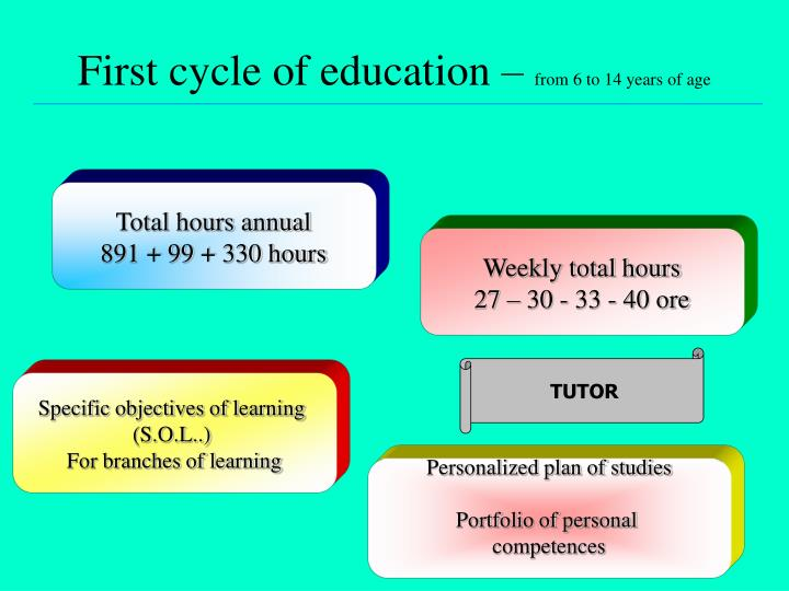 First cycle of education –