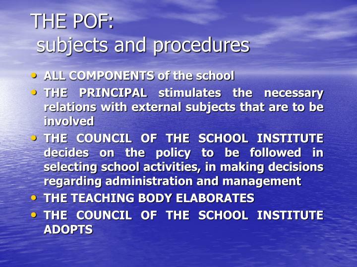 THE POF: