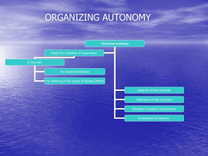 ORGANIZING AUTONOMY