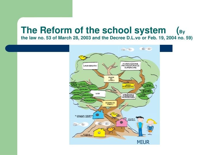 The Reform of the school system    (