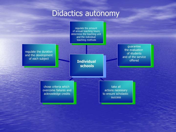 Didactics autonomy