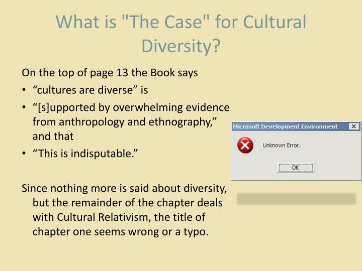 """What is """"The Case"""" for Cultural Diversity?"""