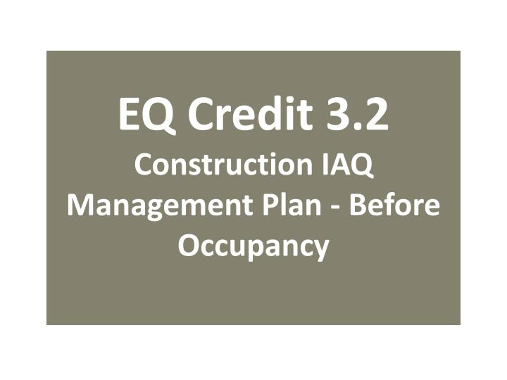 EQ Credit 3.2