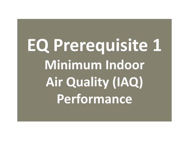 EQ Prerequisite 1
