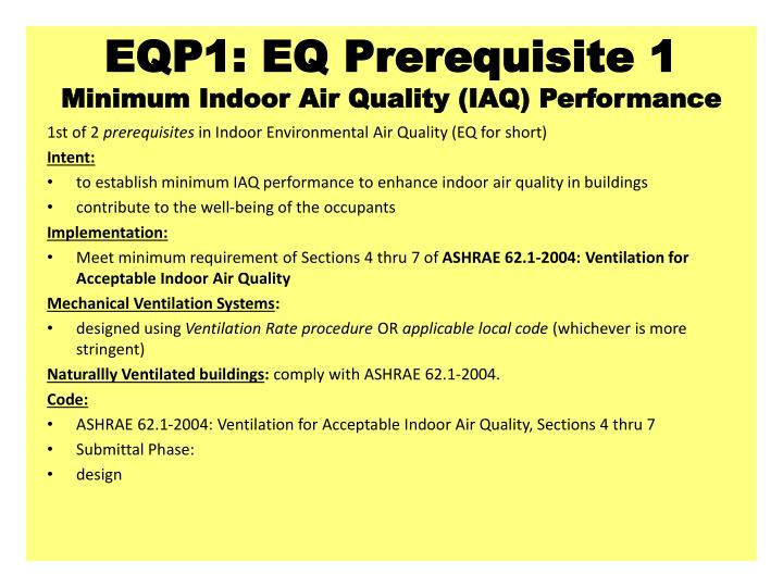 Eqp1 eq prerequisite 1 minimum indoor air quality iaq performance