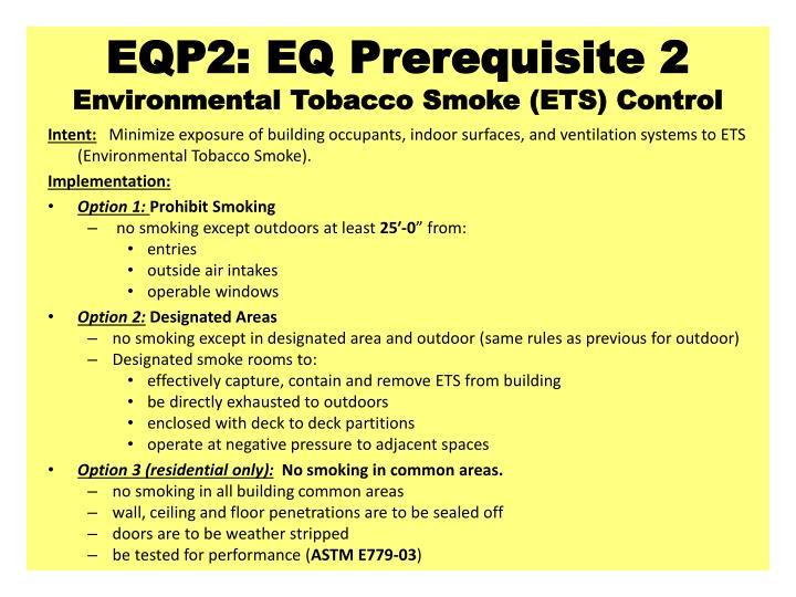 EQP2: EQ Prerequisite 2