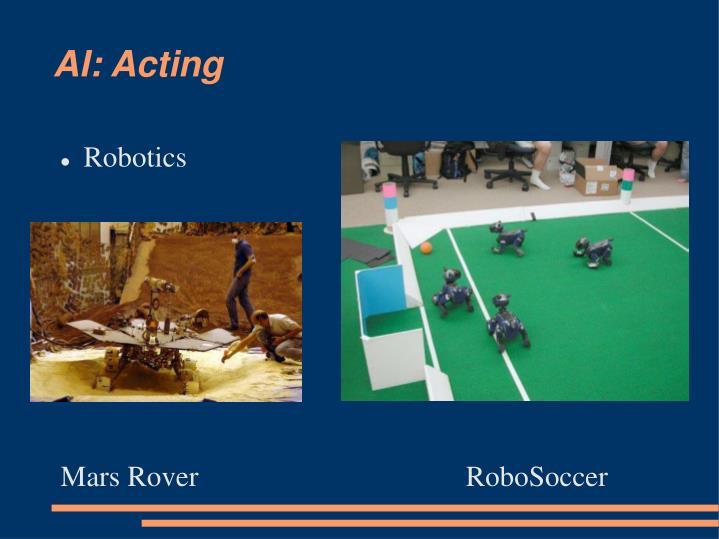 AI: Acting