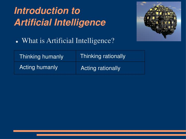 Introduction to artificial intelligence1