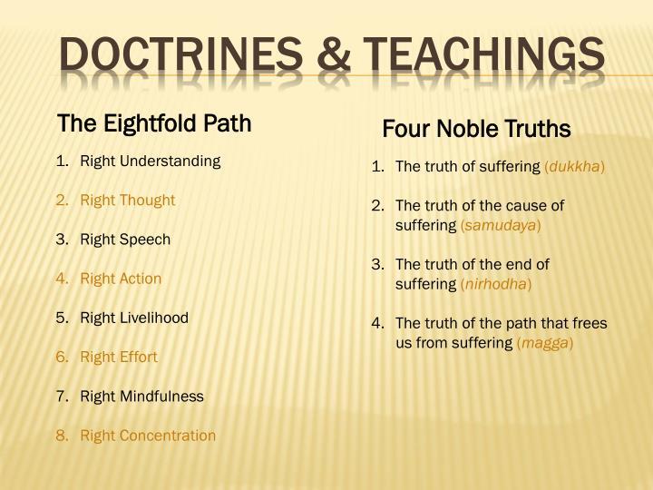 Doctrines & teachings