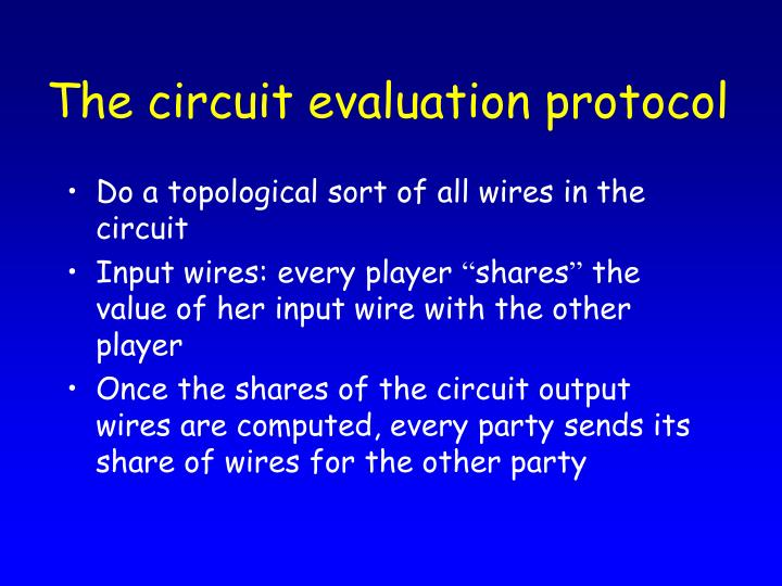 The circuit evaluation protocol