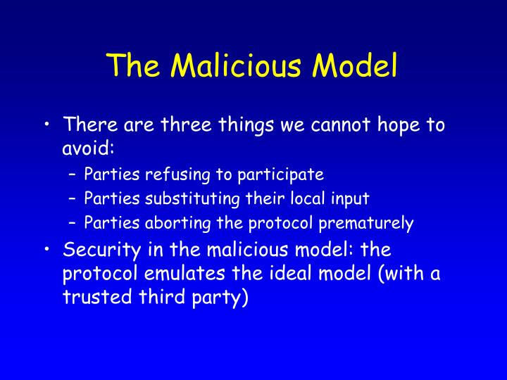 The Malicious Model