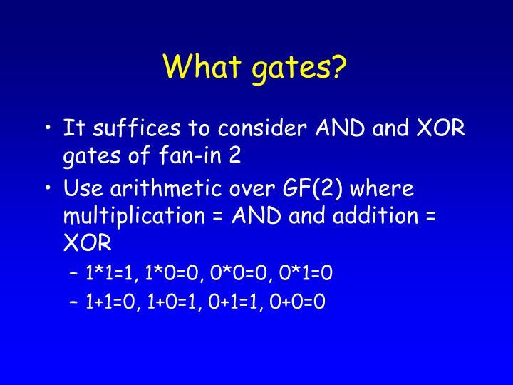 What gates?