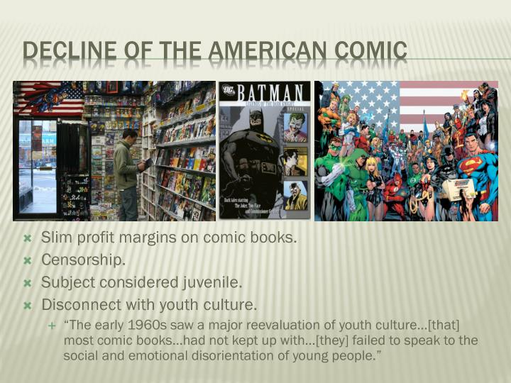 Decline of the American comic