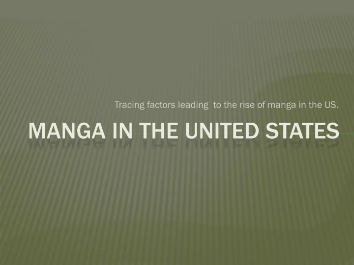 Manga in the united states