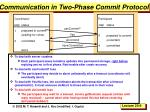communication in two phase commit protocol