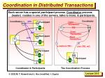 coordination in distributed transactions