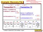 example recovery file