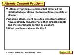 i atomic commit problem