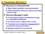 iv transaction recovery
