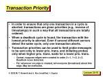 transaction priority