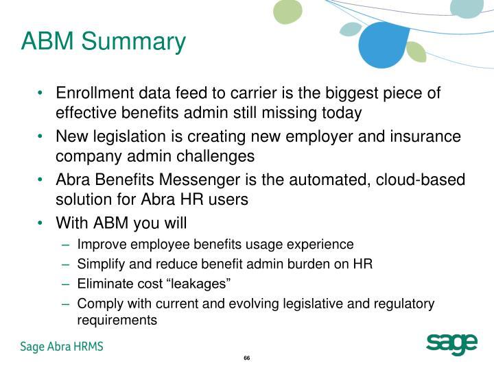 ABM Summary