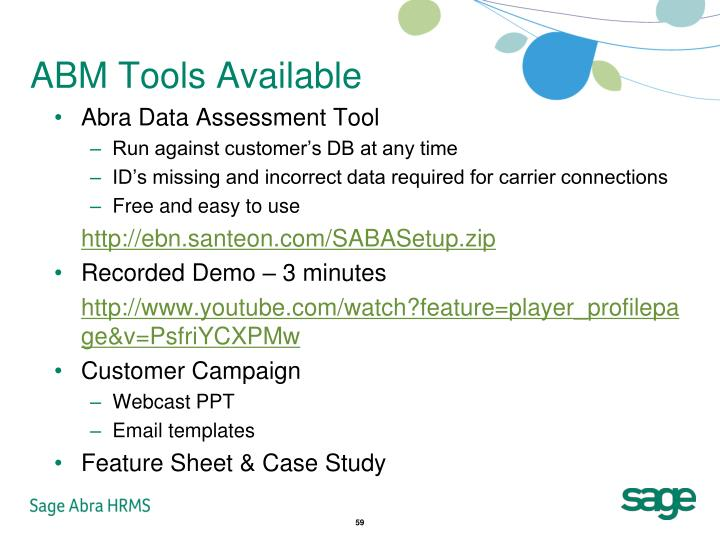 ABM Tools Available