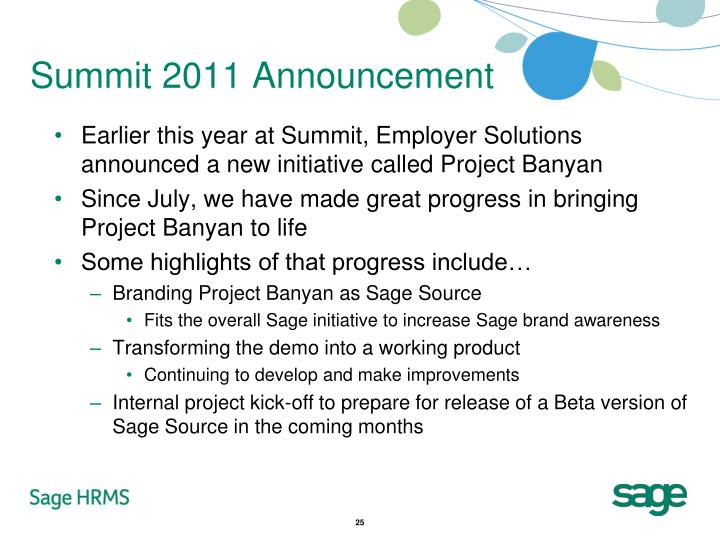 Summit 2011 Announcement