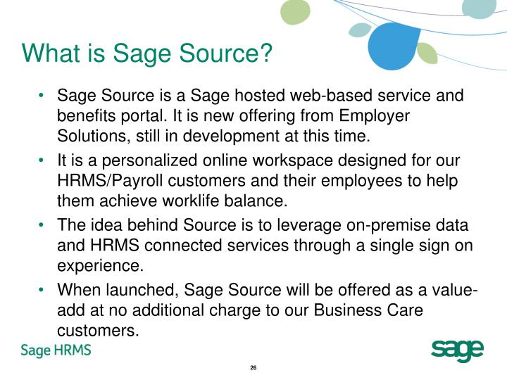 What is Sage Source?