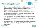 what is sage source