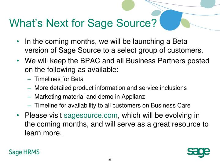 What's Next for Sage Source?