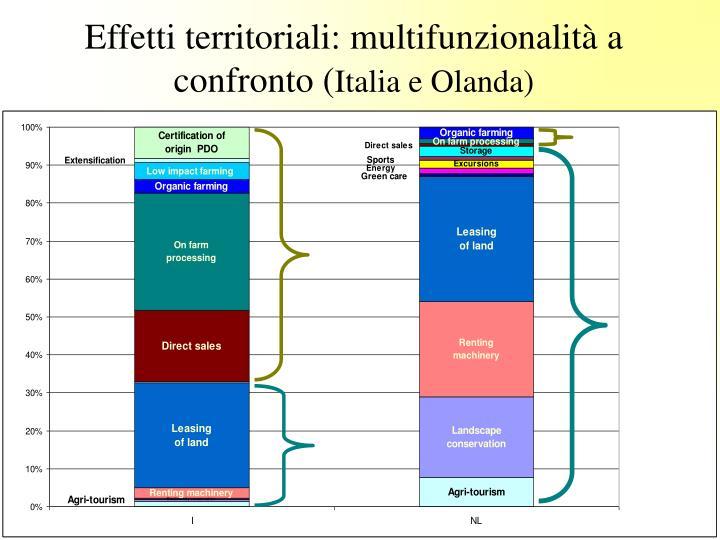 Effetti territoriali: multifunzionalità a confronto (