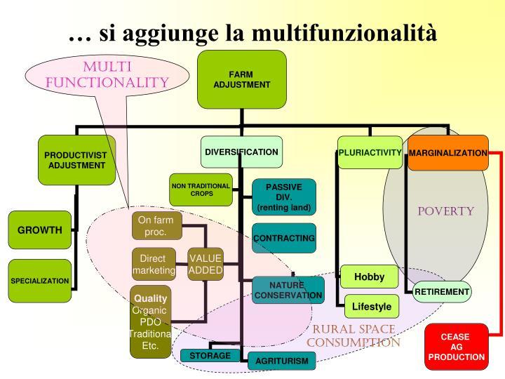 … si aggiunge la multifunzionalità