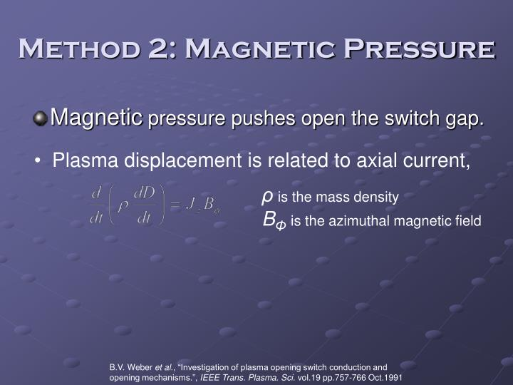 Method 2: Magnetic Pressure