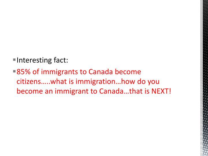 Interesting fact: