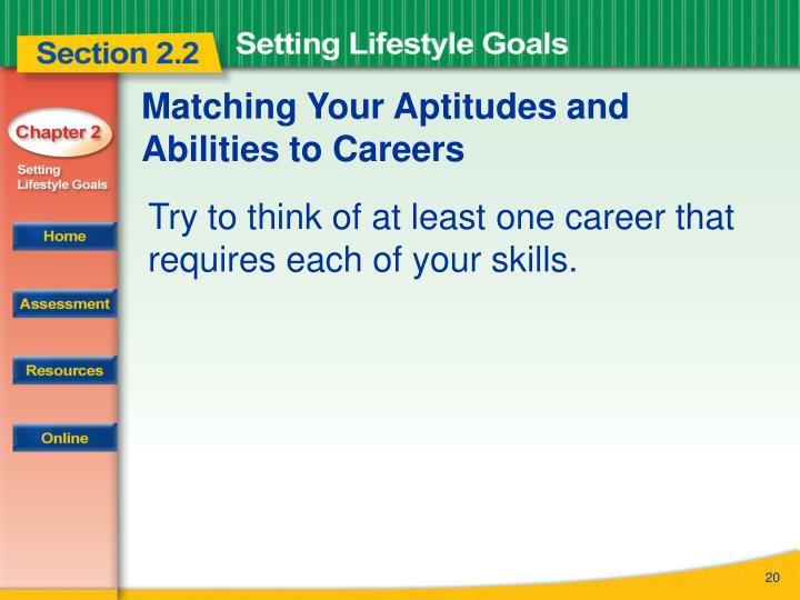 Matching Your Aptitudes and Abilities to Careers