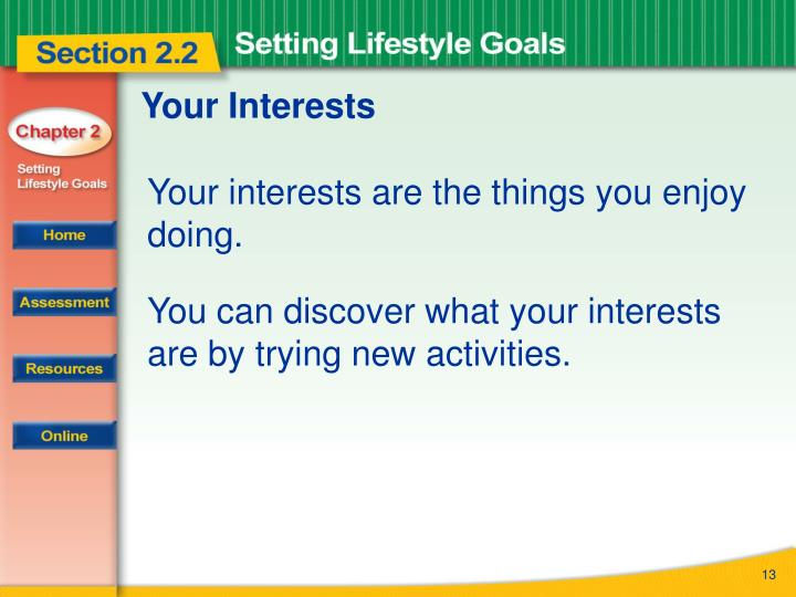 Your Interests